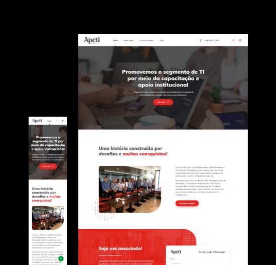 Apeti • Site institucional e Blog
