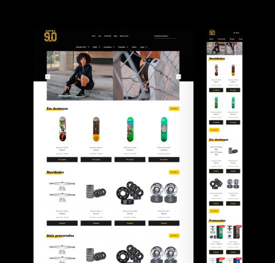 Safra90 skateboard  • Loja online